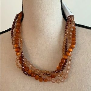 3/$10 NEW 4 strand brown necklace